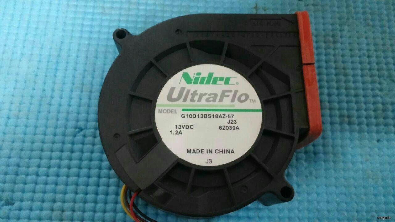 Nidec 9733 G10D13BS18AZ-57 J23 DC13V 1.2A 3Pin 3Wire Cooling Fan ...