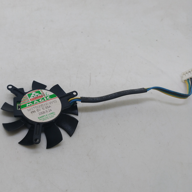 For MGA5012LR-O10 DC 12V 0.08A 2-wire 2-pin connector 50mm Server Round fan
